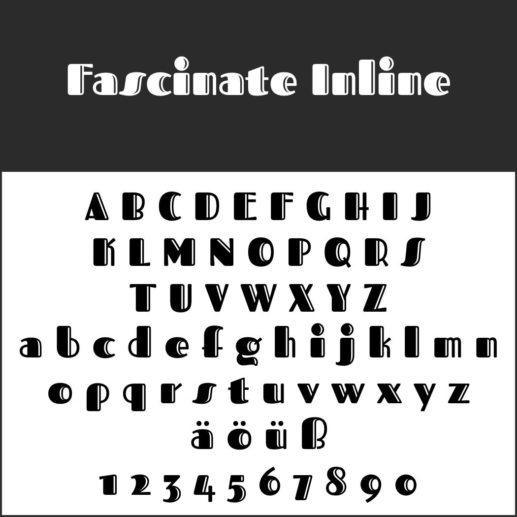 Display Font: Fascinate Inline