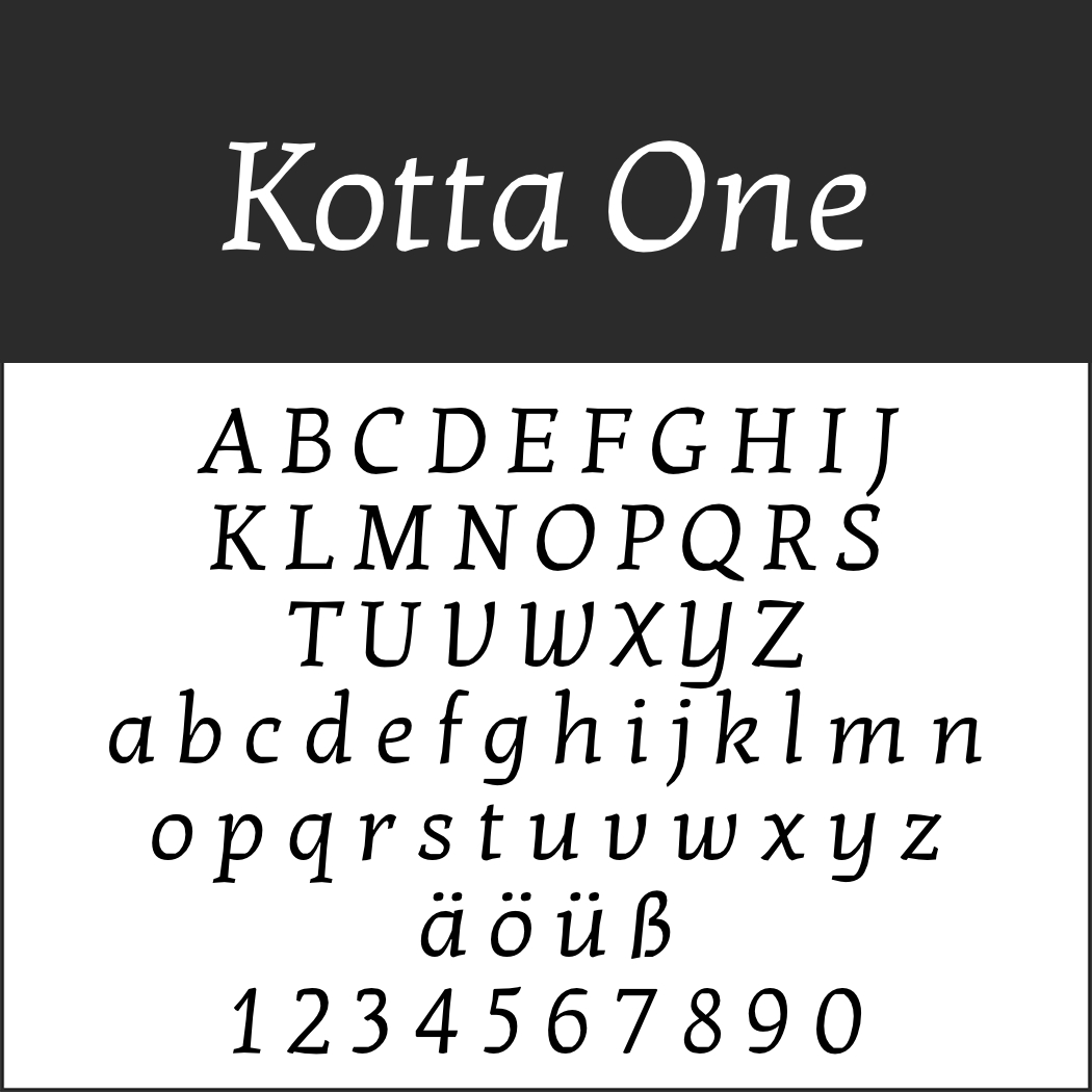 Renaissance-Schrift: Kotta One
