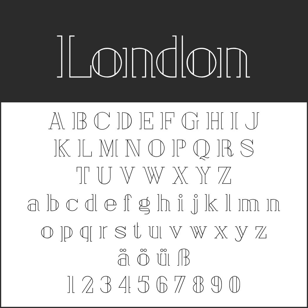 Verspielter Font: London