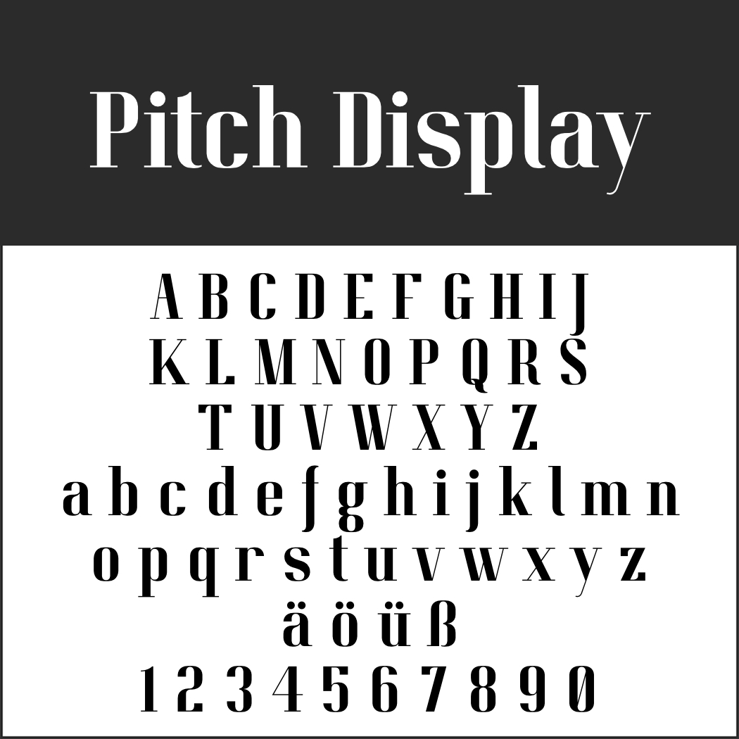 Display Font: Pitch Display