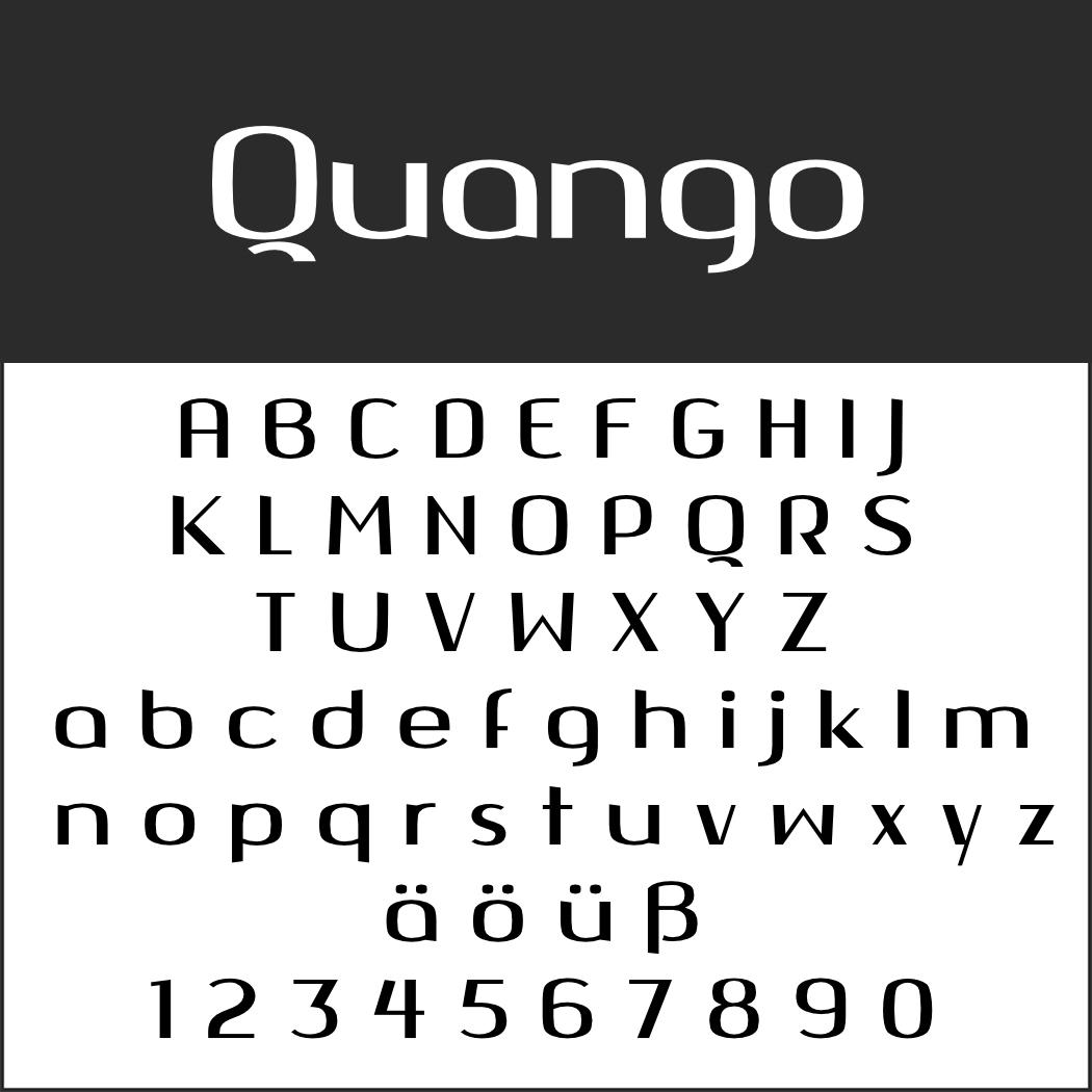 Display Font: Quango