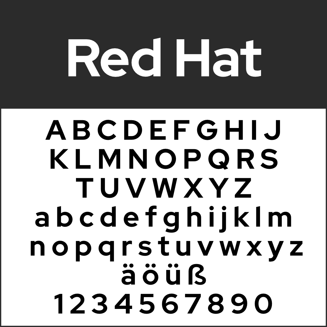 Display Font: Red Hat