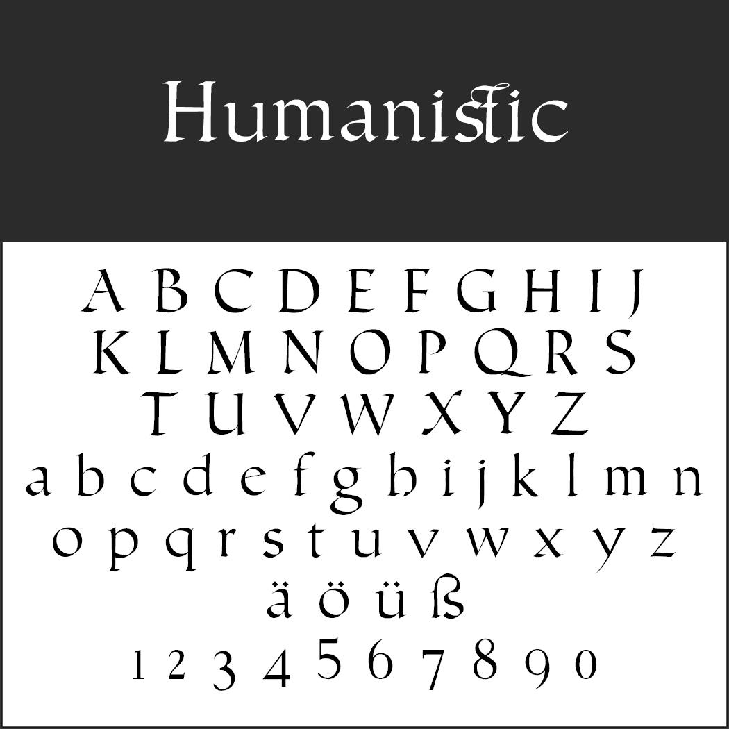 Kalligraphie-Font: Humanistic