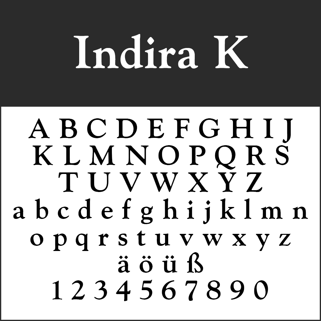 Renaissance-Schrift: Indira K