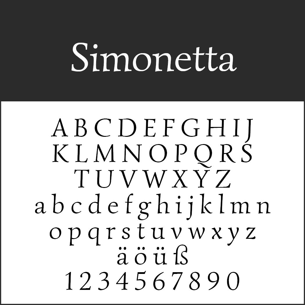Renaissance-Schrift: Simonetta
