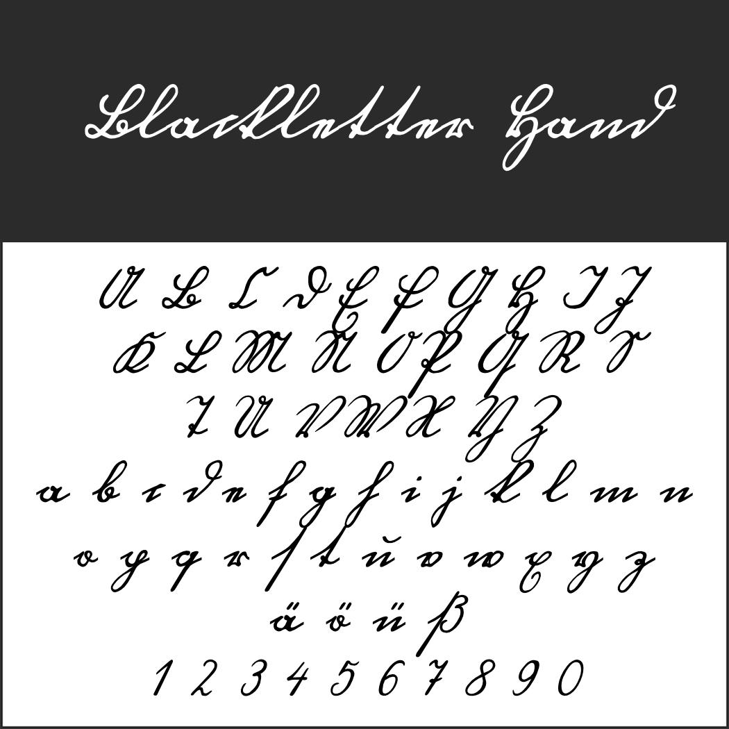 Schreibschrift: Blackletter Hand