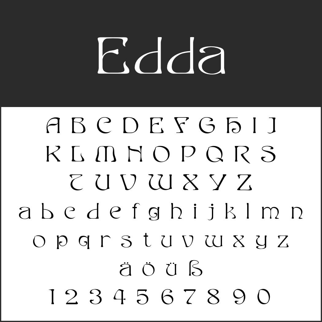 Deutsche Schrift: Edda