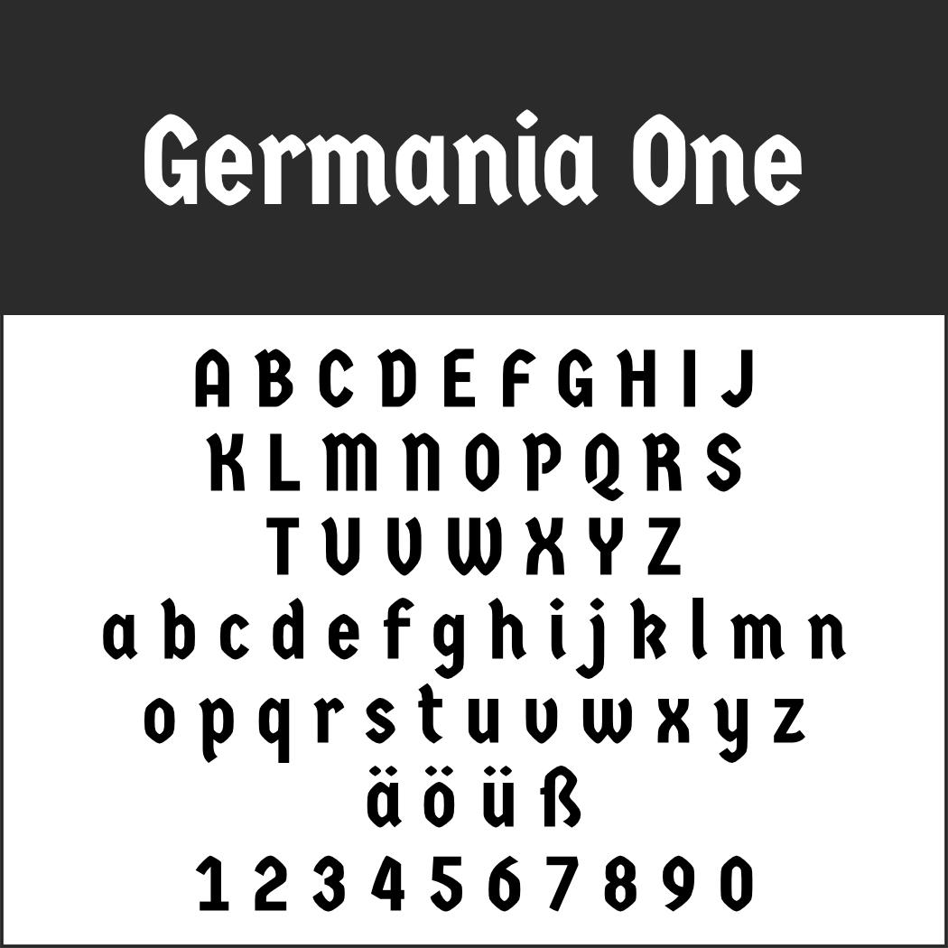 Klassische Font: Germania One