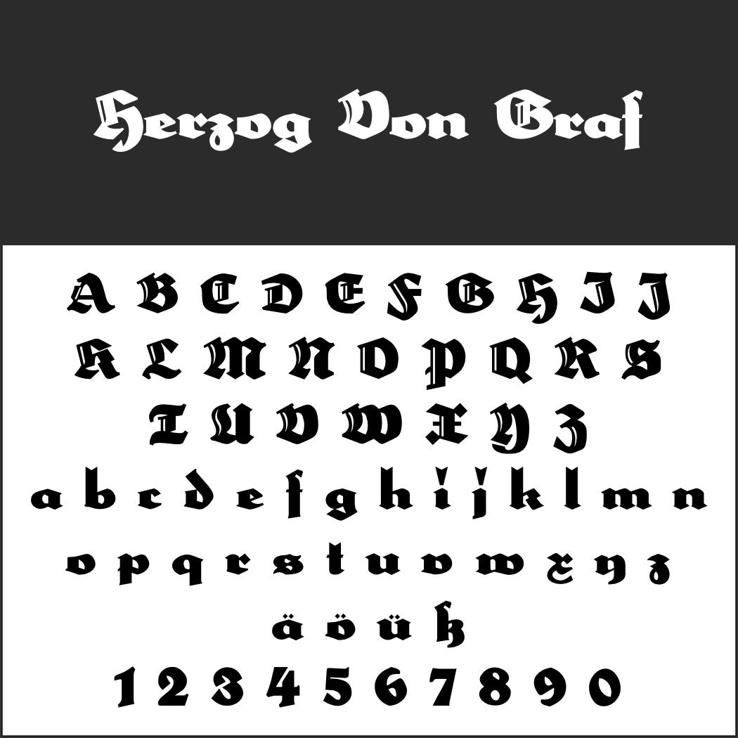 Deutsche Schrift: Herzog Von Graf