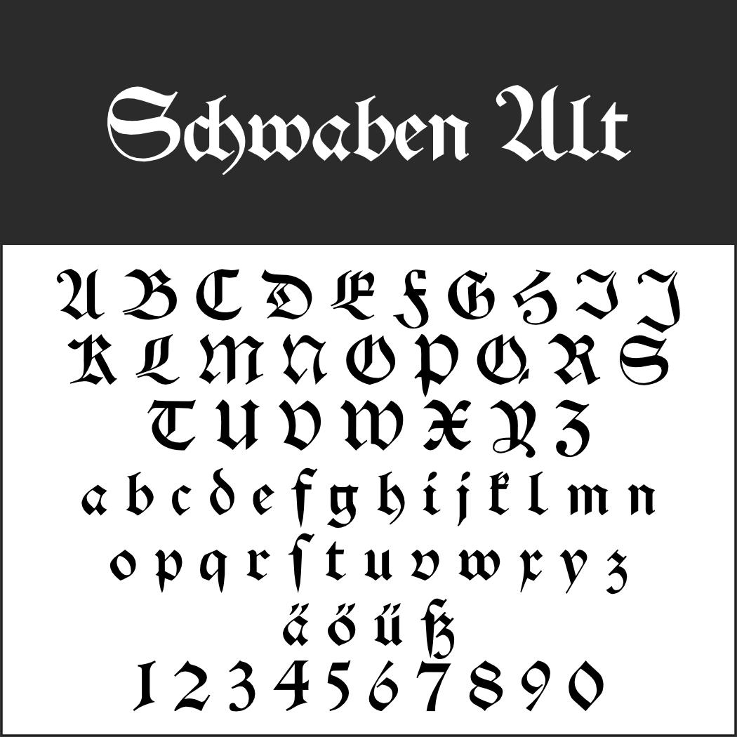 Schwabacher: Schwaben Alt