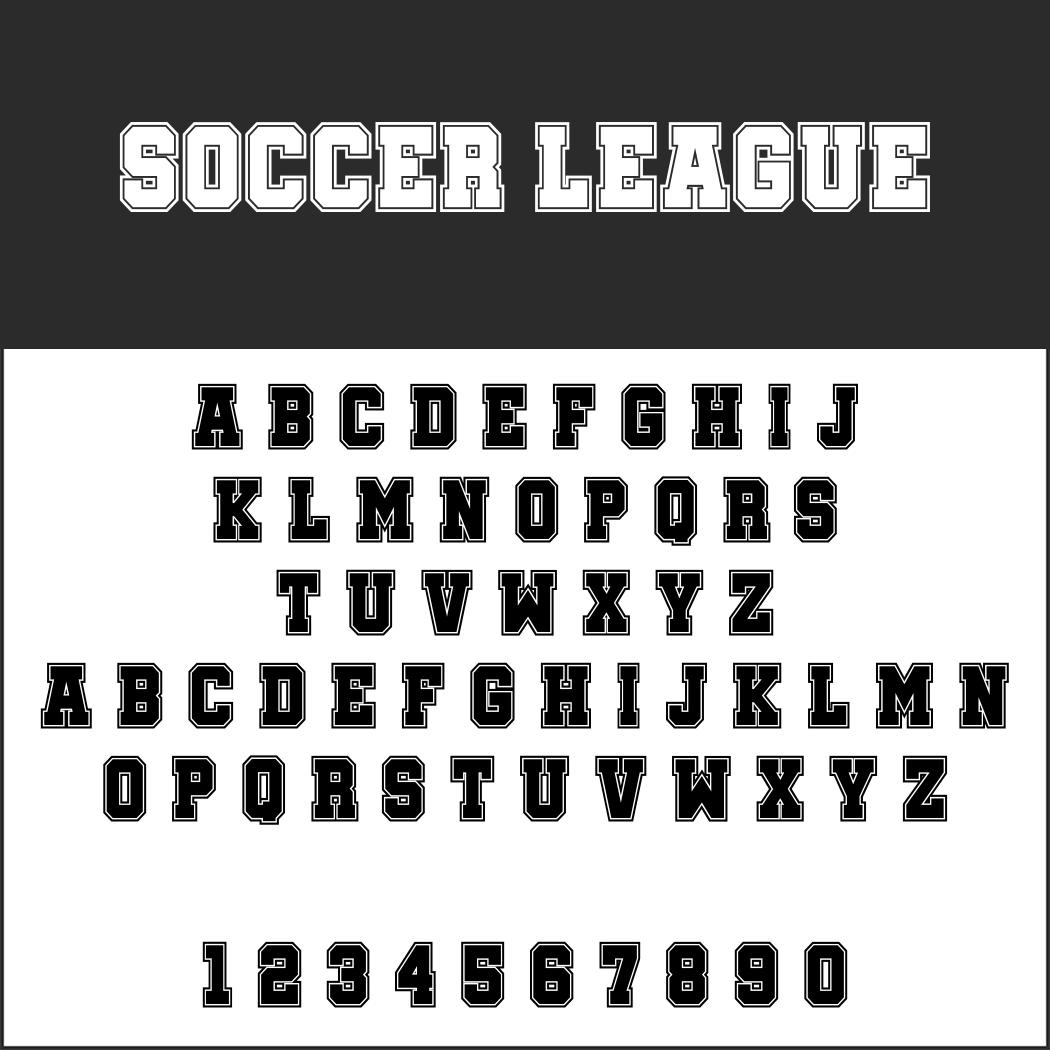 Sportliche Schriftart
